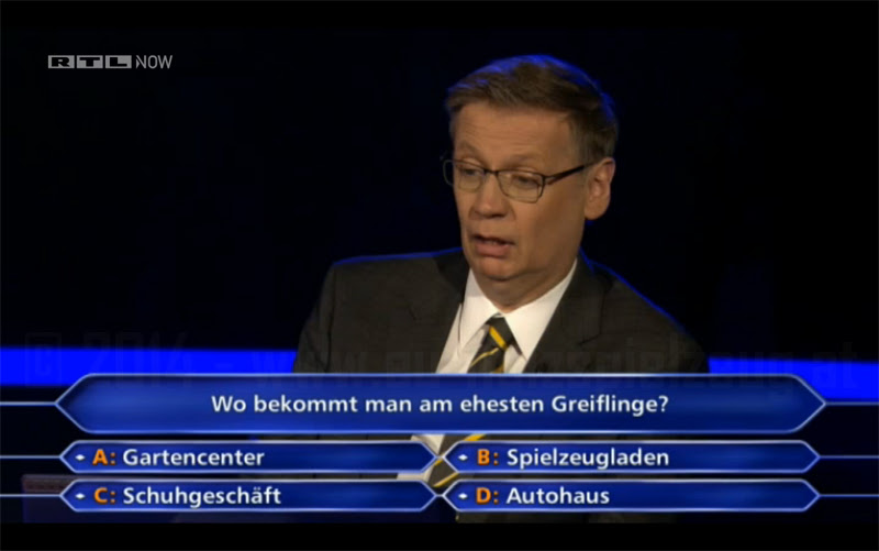 Wer wird Millionär - Greiflinge - Gute-Information.de