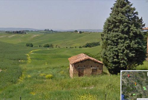 paisagem toscana itália street view, dicas para ilustradores, by ila fox