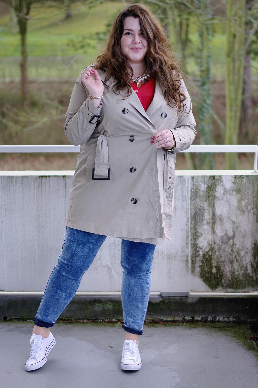 Große Größen Plus Size Fashion Blog kik textil beige trench coat janina