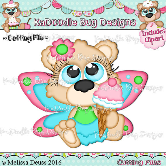 Cutie KaToodles - Ice Cream Fairy Bear