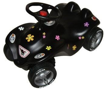 new big bobby car schwarz flower fulda reifen bobbycarsrutscher. Black Bedroom Furniture Sets. Home Design Ideas