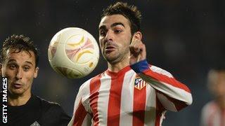 Athletico Madrid striker Adrian Lopez