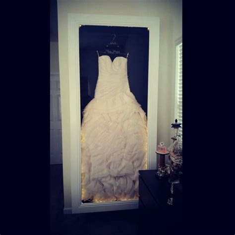 DIY Wedding Dress preserving shadow box!!!!!   diy