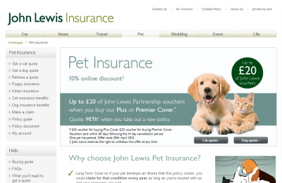 John Lewis Pet Insurance, UK - Buy Direct from John Lewis ...