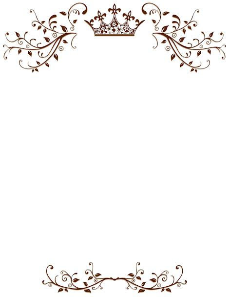Photoshop clipart wedding page border   Pencil and in