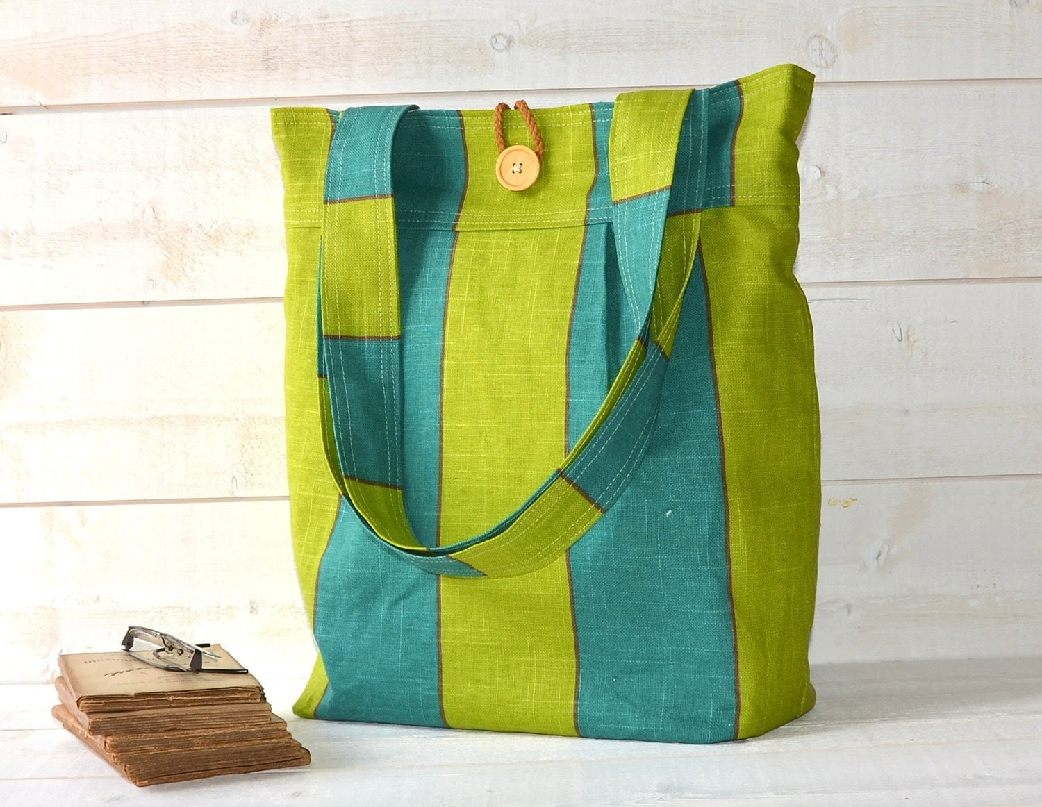 SUMMER DREAM GREENS Shoulder Bag / Ready to ship