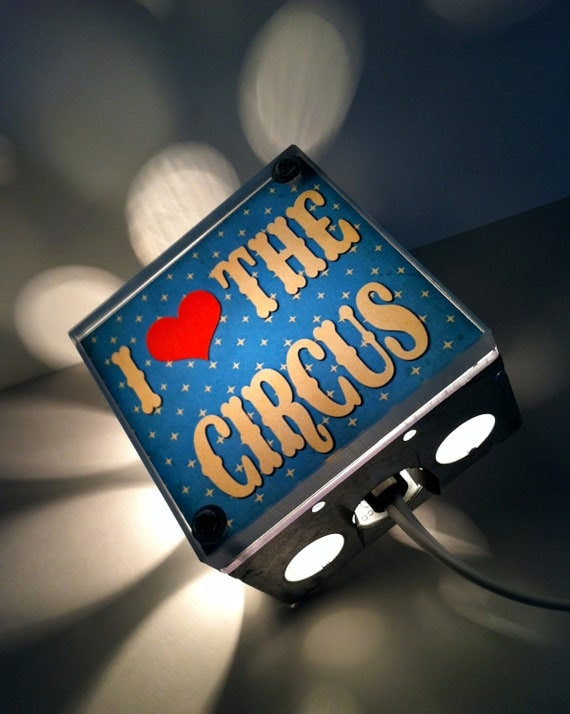 Circus Night Light on Etsy