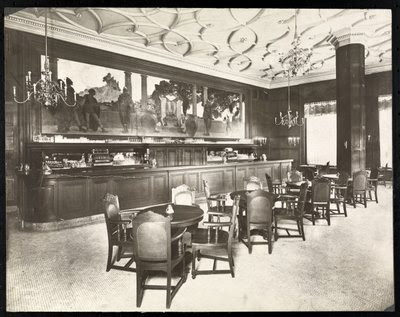 Fine Art Print of The Old King Cole Bar at the Hotel Knickerbocker, 1906 by Byron Company