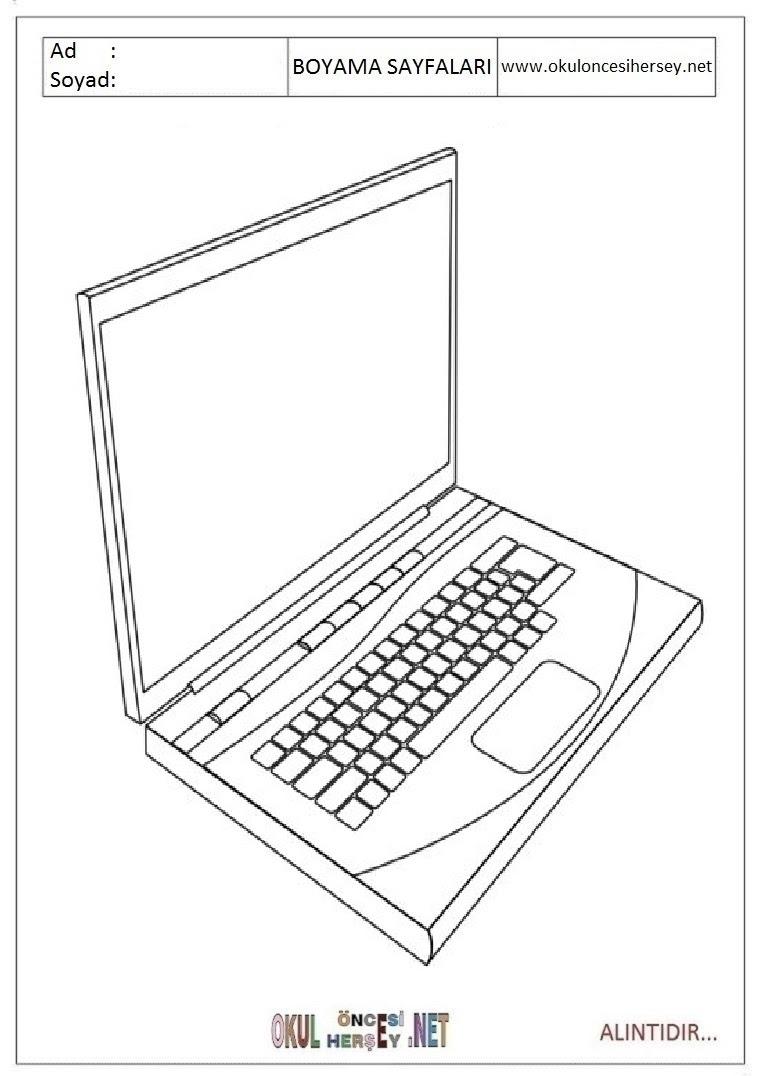 Bilgisayar Boyama Sayfaları