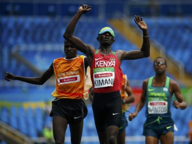 Samwel Kimani alikuwa pia ameshinda dhahabu mita 5000 kitengo T11