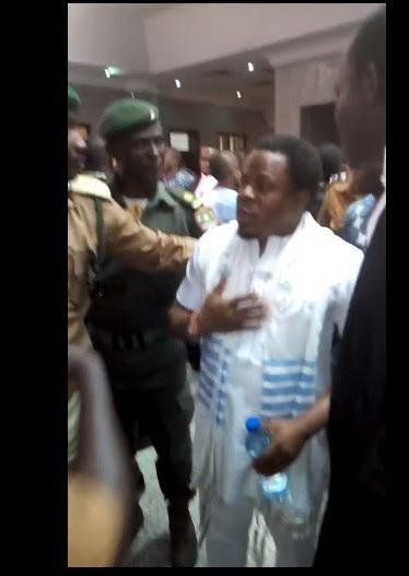 Drama As Nnamdi Kanu's Co-accused Sparks At Security Operatives In Court. Photos