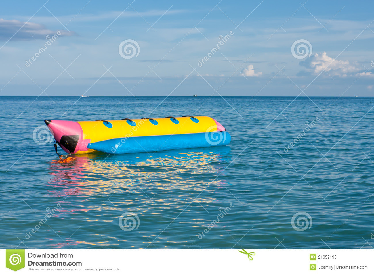 Banana Boat In The Sea Royalty Free Stock Photo - Image: 21957195