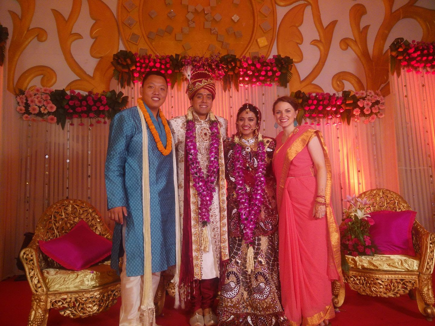 Michael and Michelle with Gunjan and Deepali at Wedding in Delhi, India photo IMG_20150514_230036_zpsjfhsshoh.jpg