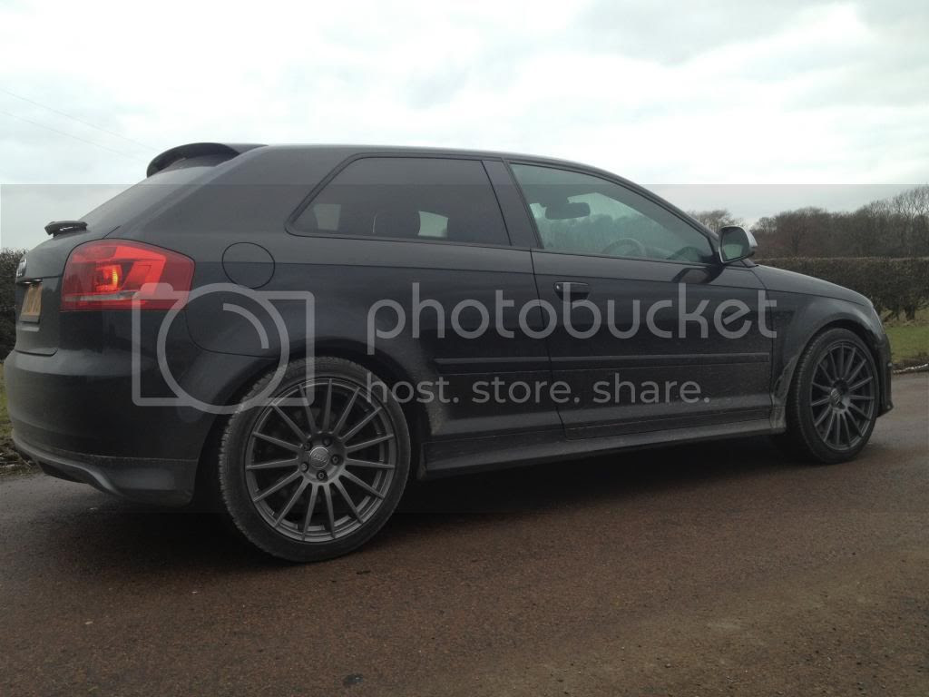 Audi A3 8p Black Wheels