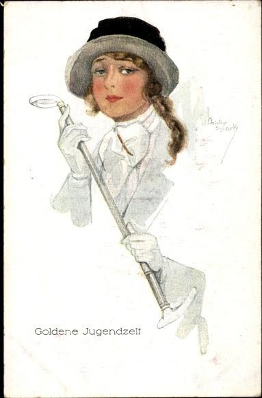 Künstler Ansichtskarte / Postkarte Spark, Chicky, Goldene Jugendzeit, Portrait einer jungen Frau