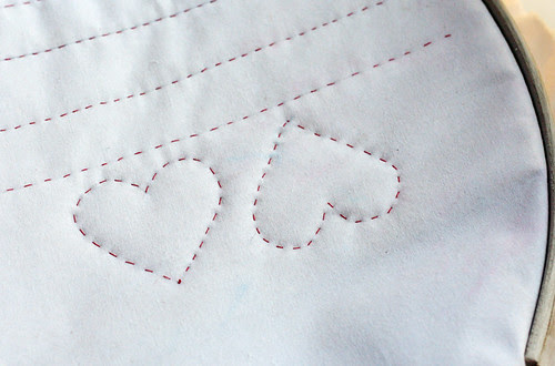 More practice hand quilting: hearts
