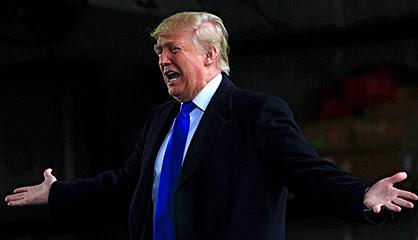 Trump, en un mitín en Dayton.