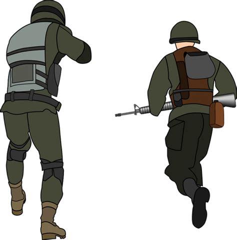 tentara menyerang domain publik vektor