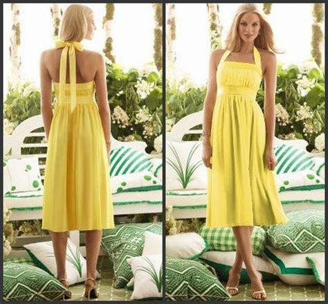 Cheap Short Bridesmaid Dresses Hot Sales Halter Yellow