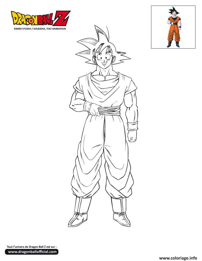 Coloriage Dbz Goku Dragon Ball Z Officiel Jecoloriecom