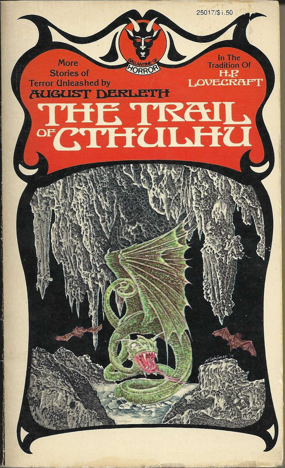 "Murray Tinkelman - Cover for ""The Trail Of Cthulhu"""