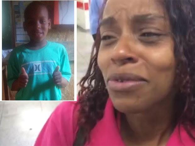Cintia Siqueira, mãe do menino Ítalo de Jesus Siqueira, morto pela PM (Foto: Kleber Tomaz/G1)