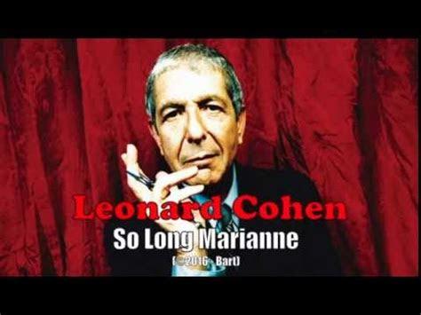 leonard cohen  long marianne karaoke youtube