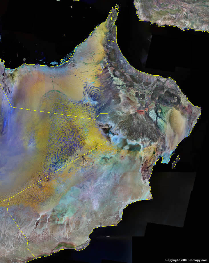 Oman Map And Satellite Image