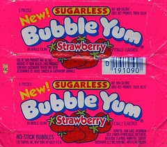 Strawberry Bubble Yum gum wrapper
