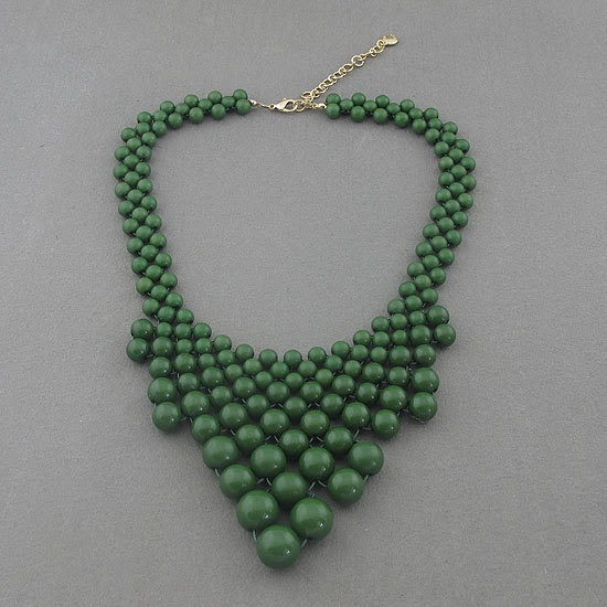 Olive green bubble necklace,holiday party,bridesmaid gifts,Beaded Jewelry,wedding necklace,turquoise color necklace$11.99