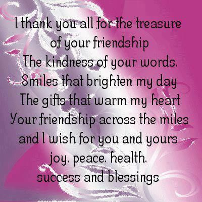 I Thank You For The Treasure Of Your Friendship Pictures Photos