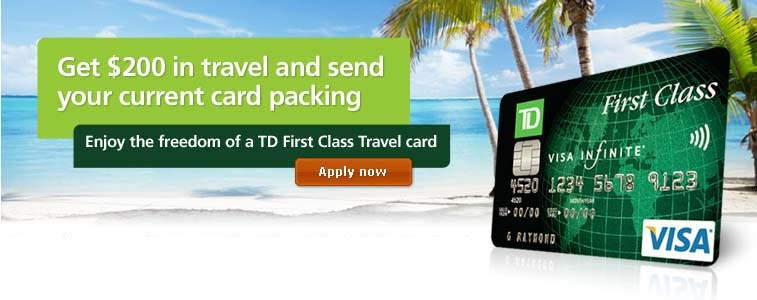 Td Visa Infinite >> Rewards Canada: TD ups the sign bonus for the First Class ...