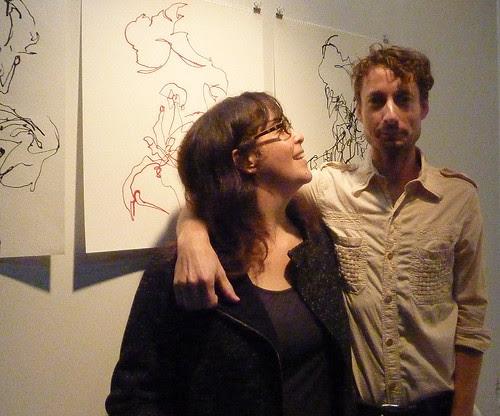 P1120511--2012-09-28-ACAC-Open-Studio-3-Jonathan-Bouknight-himself with Lisa Alembik