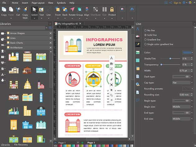 Edraw Infographic Software: Perpetual License for $45