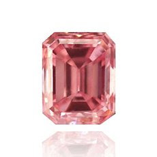 0.19 quilates, Fancy Intense diamante rosa, esmeralda