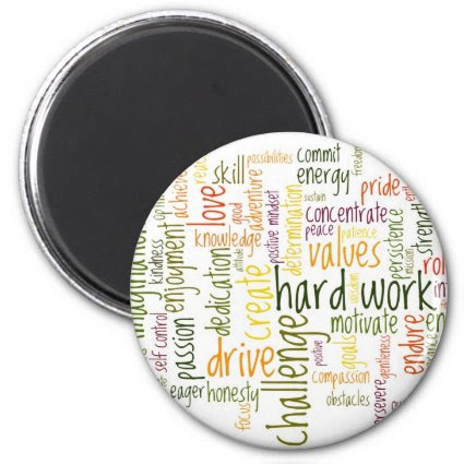 Motivational Words #2 fridge magnet
