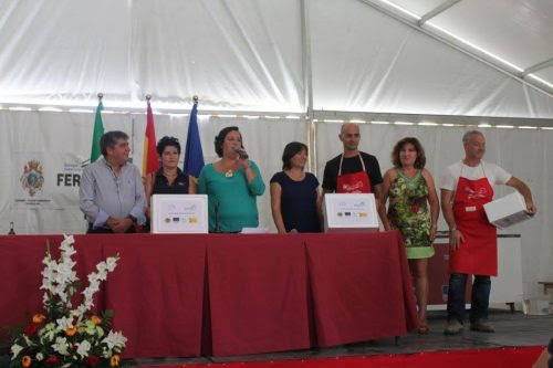 Entrega de premios en el concurso Chef Segureñ@ e directo.