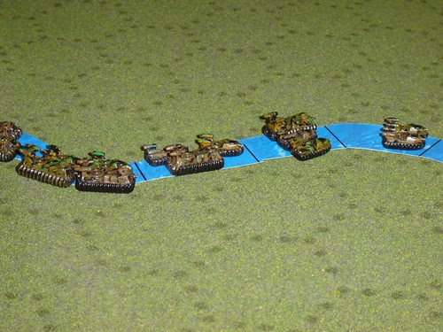 PanEuropean GEVs head down-river to spoil Combine advance