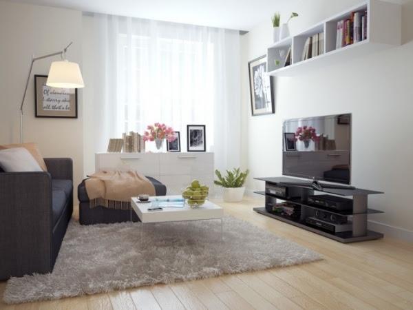 holzverkleidung wohnzimmer gemälde schwarzes leder sofa