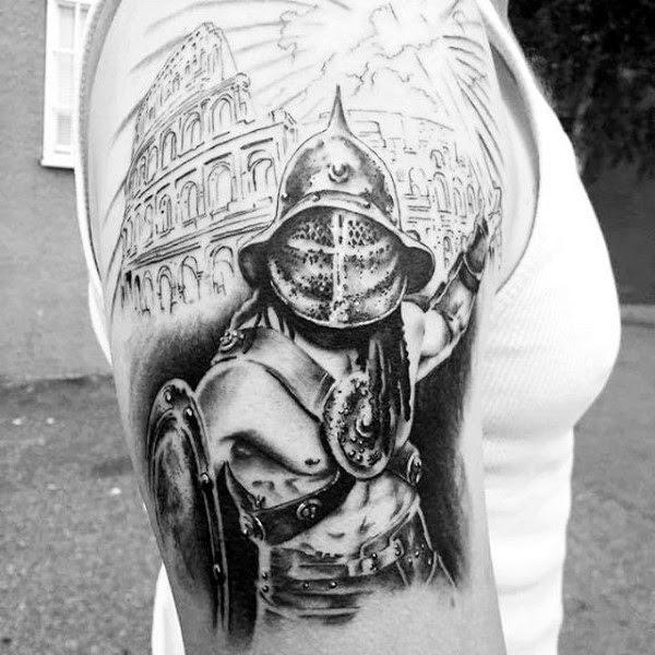 Valiant Gladiator Tattoo Designs (26)