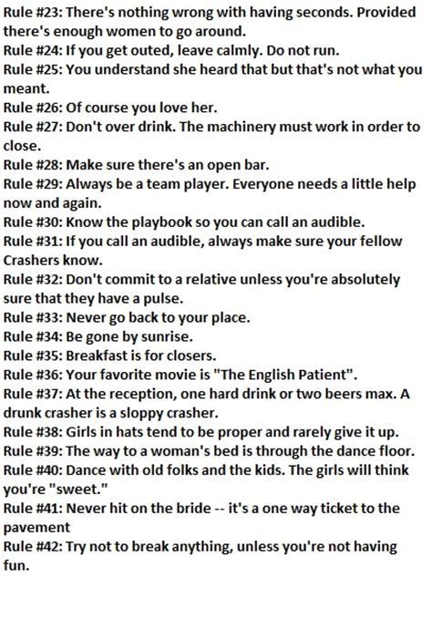 The Rules of Wedding Crashing [ From Wedding Crashers