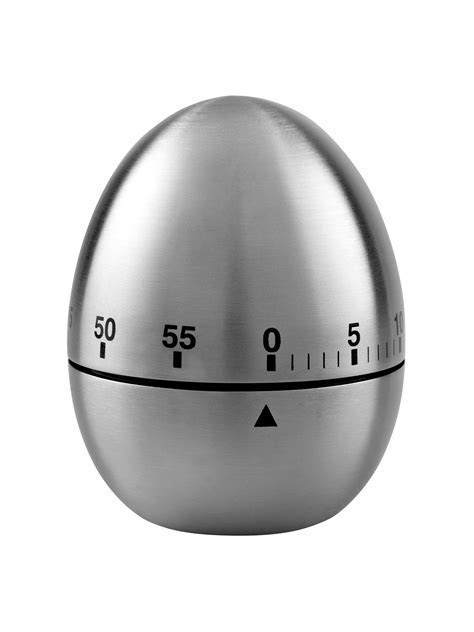 John Lewis & Partners Stainless Steel Kitchen Egg Timer at