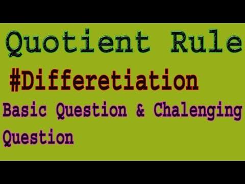 Quotient Rule | Quotient Rule Formula | Quotient Rule Derivatives | Dev Kumar |Technical Sanju First