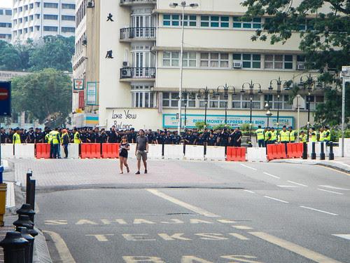 Large Police Presence