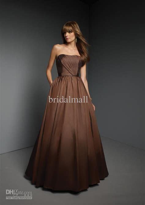 Chocolate brown bridesmaid dresses   Brown Weddings