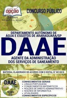 AGENTE DA ADMINISTRAÇÃO DOS SERVIÇOS DE SANEAMENTO