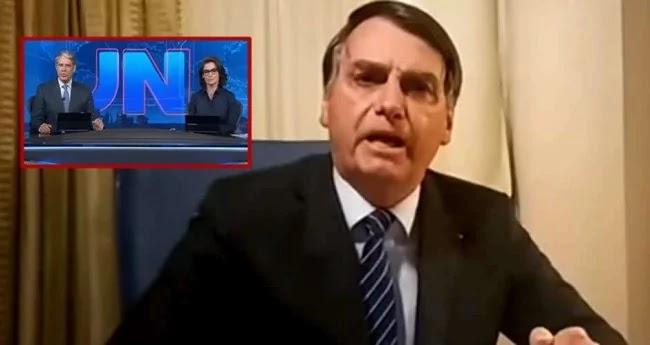 Emocionado, Bolsonaro destrói a Globo; canalhas, a mamata acabou  (veja o vídeo)