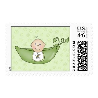 Pea in the Pod postage stamps stamp