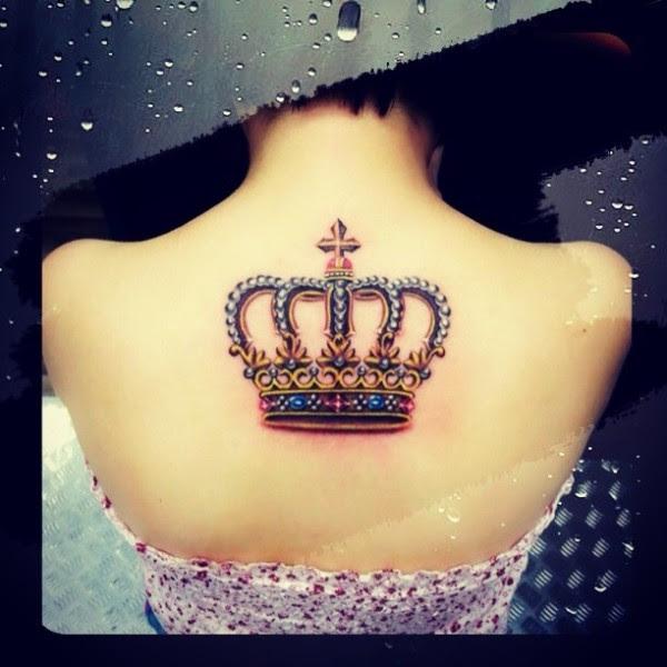 Crown Tattoo On Back Tattoomagz
