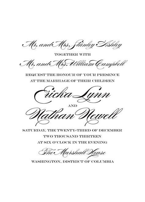 traditional wedding invitation wording refer wedding